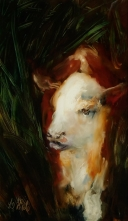 sold Clean Skin, oil on Glass, 173x100mm Image may show some reflection