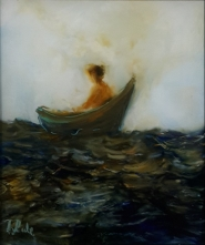 Just Drifting, oil on glass 103x125mm