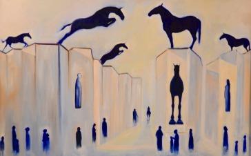 Pillars of Change. Oil on Canvas 1010 x 805mm