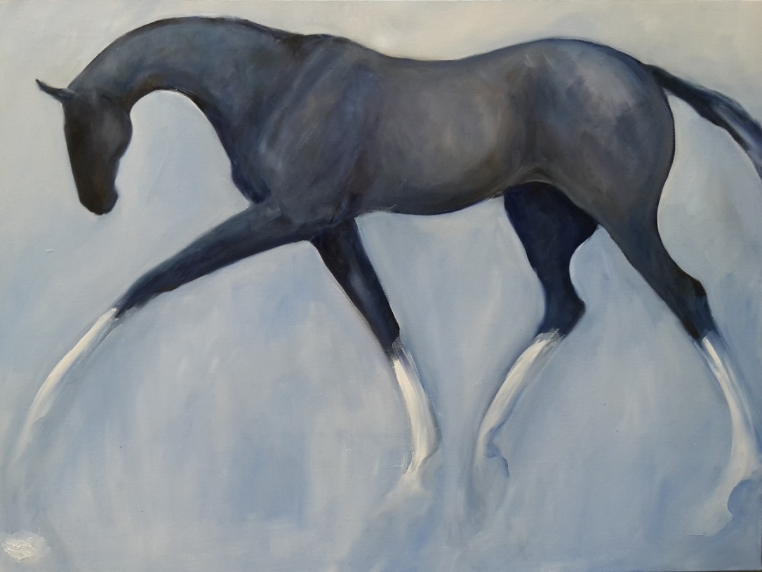 Graceful in Greys oil on Canvas 1210 x 910mm