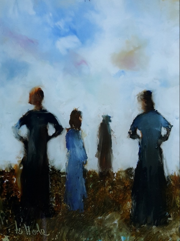 soldMothers, Oil on Glass, 137 x 101 mm $240